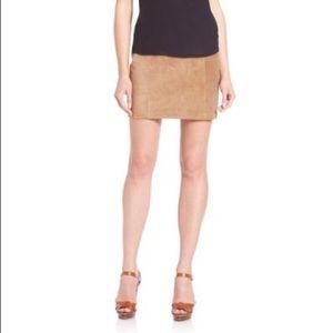 NWOT Ralph Lauren Tan 100% Leather Skirt